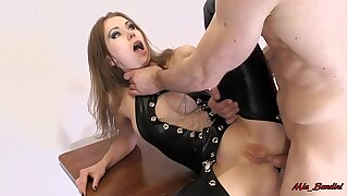 FIT TEEN LOVE ASS TO THROAT FUCK AND EATING ANAL CREAMPIE. MIA BANDINI