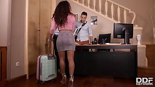 Mouth-watering Latina hottie Liv Revamped double penetrated on the bed