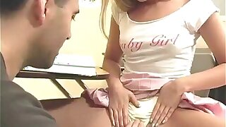 Hot teacher makes his 18yo students panties wet