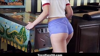 Hot Teen Girl With A Big Ass Scarlett Mae Creampie From Stranger On Pinball Machine