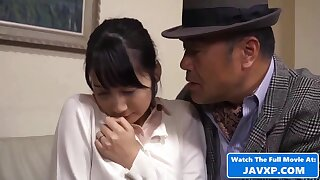 Lustful Japanese babe sizzling porn video