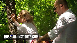 Blonde teen Reeve has anal sex with her bodyguard