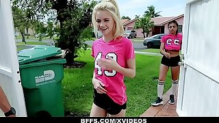 BFFS - Marketable Soccer Girls Fucked off out of one's mind Trainers