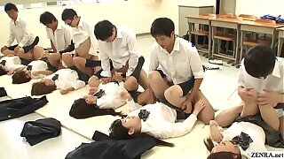 JAV synchronized schoolgirl churchman intercourse led at the end of one's tether crammer