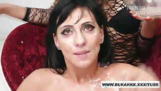 Sherry Vine's Big Sticky Cum Swallow Bukkake Trailer