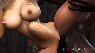 3dxpassion.com. Young bride dreams of being fucked by a big black cock at a wedding