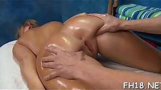 Massage sex pleased ending