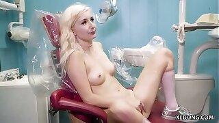 Dentist fucks the tiny slut - Vera Bliss and JMac