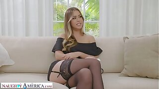 Naughty America - Your wife, Kassandra Kelly (Alina Lopez), fucks a stranger and you watch